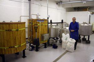 mash tuns and boilers